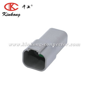 Kinkong 4 Pin Gray Male Dt Waterproof Electrical Auto Connector Dt04-4P