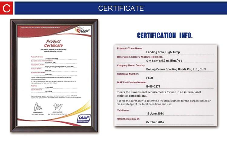 IAAF certification sport Equipment high jump standard, High Jump ...