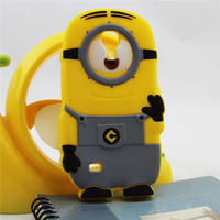 3d silicone despicable me minions case for samsung galaxy s4 mini