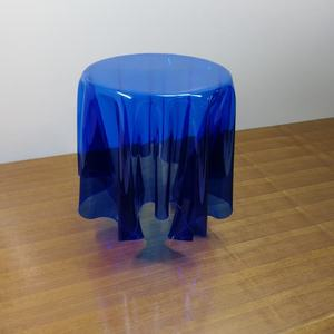Clear Blue Acrylic End Table Wholesale