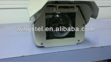 Aluminium cctv camera housing with wiper with Fisheye Window and Stainless Steel Accessories
