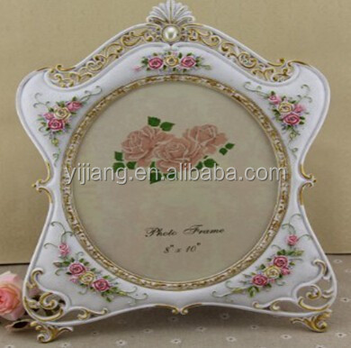 Fashion Wedding Gift Resin Photo/Picture Frame Hand Painted