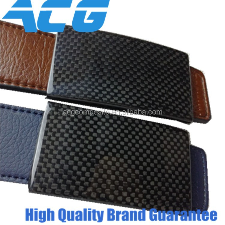 Carbon fiber Belt Genuine Leather Belt Men's fashion carbon buckle