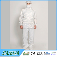 pink coverall pharmaceutical clean room esd protective coverall