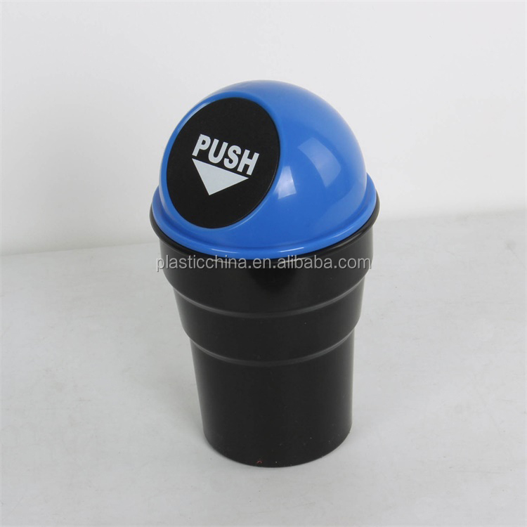 New product keep car clean and tidy round shaped mini car trash bin with lid