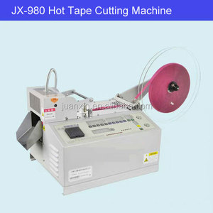 China factory price automatic hot blade ribbon cutting machine/nylon webbing/strap hot cutter machinery