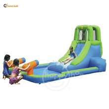 Happyhop Inflatable Water Slide of Kids Pool for Sale-9040 Water Slide with Pool and Cannon