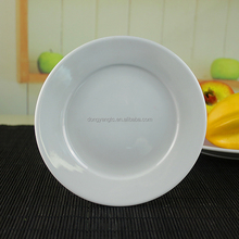 "9"" 6"" inch round shape plain white ceramic dinner dessert porcelain appetizer gloss noodle soup salad logo decal korean plate"