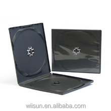 Competitive price black dvd case /10mm double black PP CD Case/black dvd case