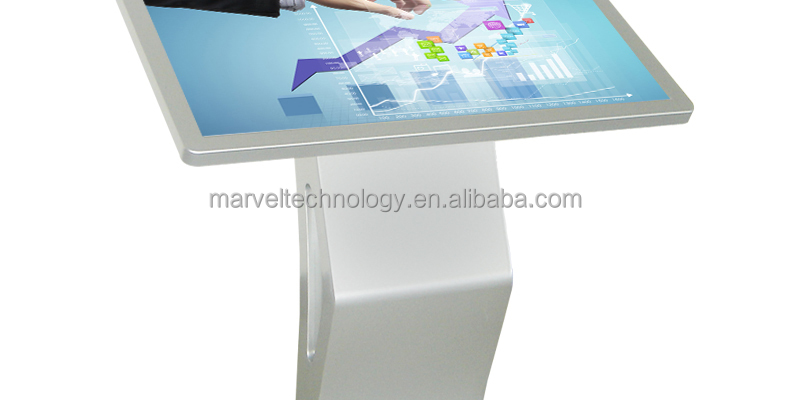 Hot selling for 2016 china blue film full hd video media player flat table kiosk
