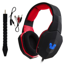 Top quality multi-functions over-ear big wired video gaming detachable mic headphones for Playstation Xbox PC