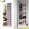 Double mirror door shoe rack closet organizer
