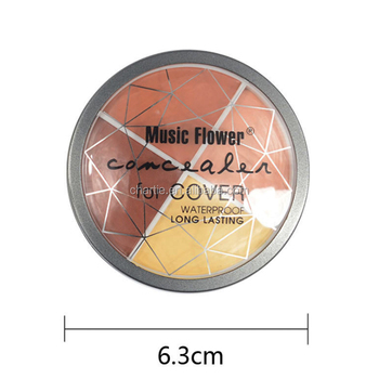 MUSIC FLOWER four color concealer facial moisturizing and whitening foundation cream