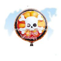 Wholesale round shape Halloween colorful Aluminum mylar ballons 45*45cm for party decorations