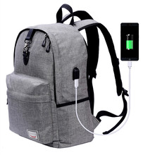 Multifunctional antitheft external frame eminent laptop backpack bag with outer usb mobile phone charger