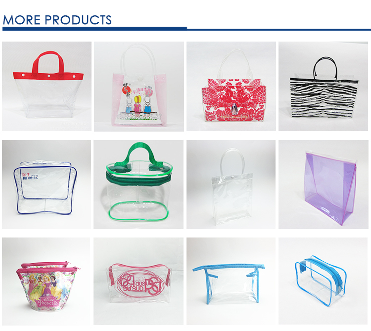 China Alibaba transparent cosmetic bag