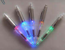 promotional wholesale flashlight ballpoint pen/pen flashlight