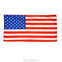 high quality USA flag print beach towel wholesale