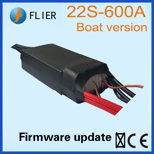 Flier Super high voltage ESC 3-22S 600A For rc Boat brushless motors