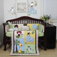 2016 new design handmade 3D china soft popular baby bedding set 100% plain cotton animal print applique
