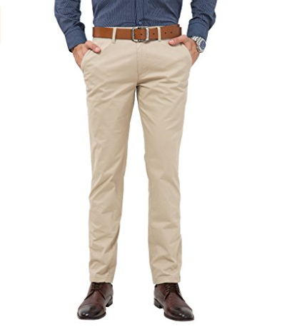 Mens stretch casual ultimate straight-fit flat-front handsome pants