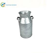 Galvanized metal milk can