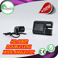 FACTORY OUTLETS I1000 dual lens car black box video recorder vehicle car camera dvr video recorder