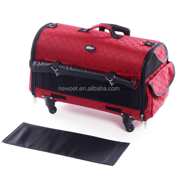 Quality primacy new arrival functional trolley bag cage travel car seat pet bag
