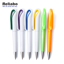 Reliabo Blue Black Ink Customized Unique Design Multicolor Simple Plastic Ball Pen