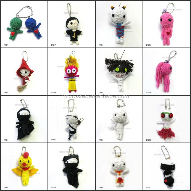 2015 high quality revenge voodoo doll with string and keychain for sale