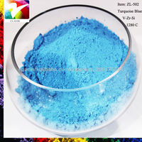 Turquoise blue ceramic glaze stains ZL-502B for sale