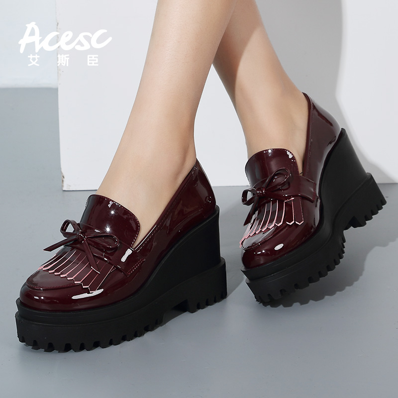 Italian High Platform Sneakers Wedge Heel Women Shoes