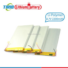 Aluminum Foil Cover Rechargeable Li polymer Battery 3.7v 2200mah Battery