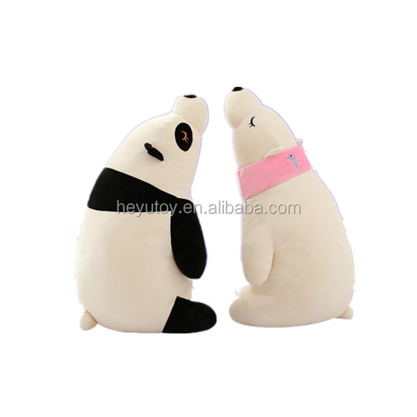 Customized mini plush toy the polar bear stuffed animal puppets toy with pillow