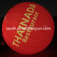custom logo printed inflatable advertising balloon for promotion/advertising/event decoration with LED