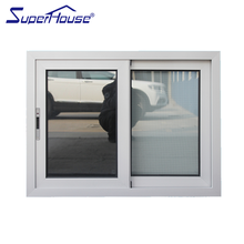 AS2047 aluminium frame double glazed sliding glass window with mosquito net