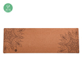 Eco Friendly Custom Cork Wood Rubber Yoga Mat with custom logo