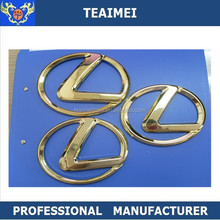 Plastic Car Brand Emblem Chrome Stickers RX Car Badge 3D Car Logo