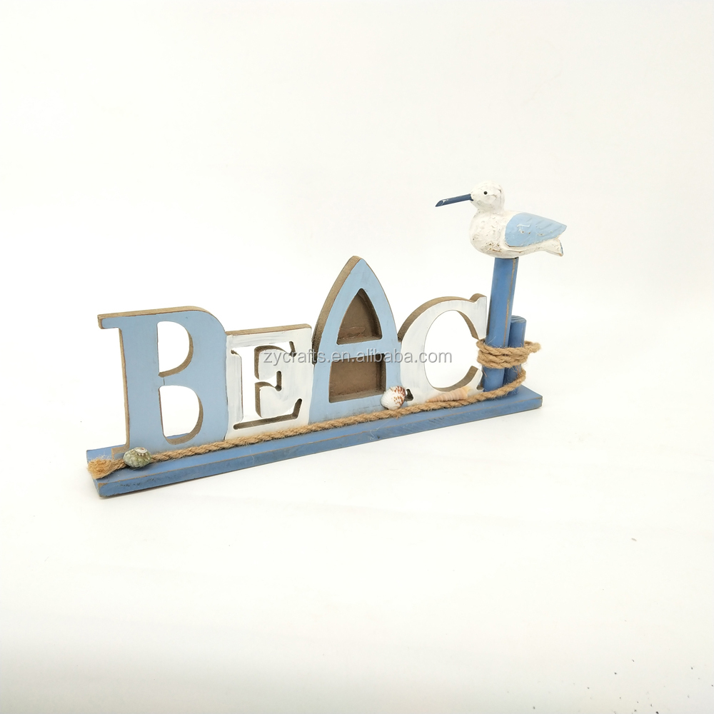 beach style standing wood home decor wood letter