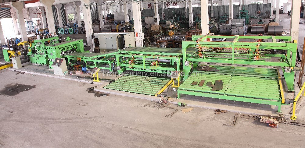 LMS Flying Shear Sheet Metal cut to length line for CR Steel