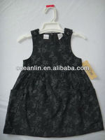 new style 100%cotton corduroy girl's sleeveless dress