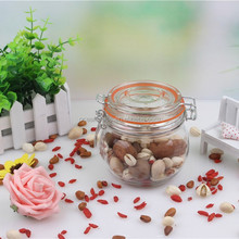 500ml glass jars with clamp lid for jams sale