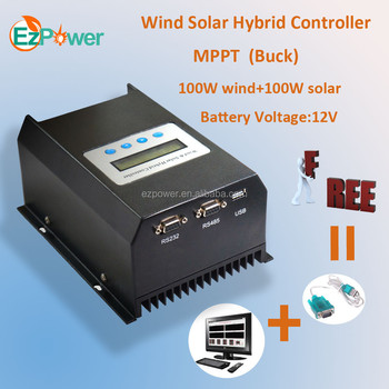 200w 12v mppt wind solar hybird charge controllerbuck