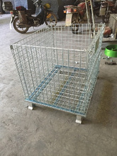 mobile storage cage folding
