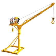 500kg Customized Davit Crane/ Small Mobile Crane Hoist/ Portable Outdoor Electric Hoist Crane
