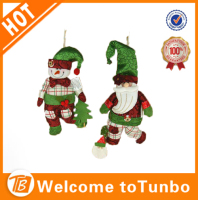 Best selling decorative fabric christmas doll hanging snowman for christmas decoration