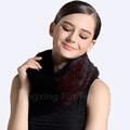 CX-S-103 High Quality Winered Colour Fashion Knitted Women Mink Fur Scarf