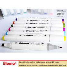 Non-Toxic Water Based graphic Dual Tip Art Markers Pen Set for Painting, sketch, and Drawing