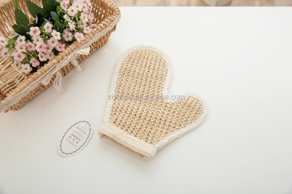 Hot sales Sisal gloves Scrub Bath Hand Scrubber