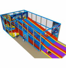 Factory Price 11X5.2X2.8M Rainbow Indoor Soft Play Systems Parts With Big Slide